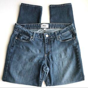 PAIGE jeans skyline ankle peg medium wash 32